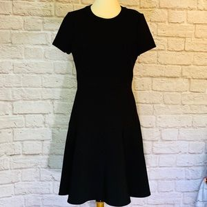Kate Spade black ponte fit and flair dress…
